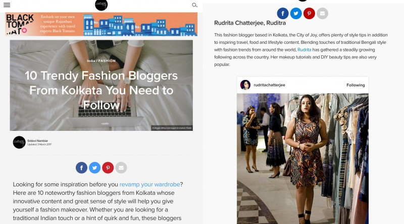 Rudrita X THE CULTURE TRIP: 10 TRENDY FASHION BLOGGERS FROM KOLKATA YOU NEED TO FOLLOW
